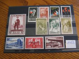 SARRE YVERT ANNEE COMPLETE 1955 NEUVE ** LUXE COTE 9,10 EUROS - Neufs
