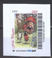 Biber Post Frohe Pfingsten 2021 (Zwerg Unter Pilz)  (70) G1239 - Private & Local Mails