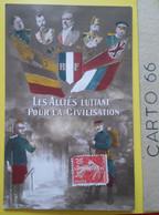 Fantaisie Militaria Les Alliés Luttant Pour La Civilisation - Drapeaux Soldats Poilus - Personaggi