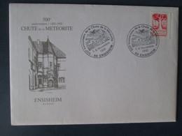Ensisheim .500 Ieme Anniversaire De La Chute De La Meteorite . Enveloppe Souvenir Avec 3 Cartes - Autres Communes