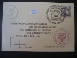 """Österreich 1964- Karte Mit Sonderstempel """"Tag Der Briefmarke"""" Von Der Weihnachtsausstellung Wien Ottakring - 1961-70 Brieven"""