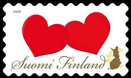 Finland 2020, Hearts, MNH Single Stamp - Unused Stamps
