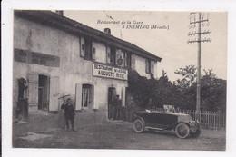 CP 57 INSMING Restaurant De La Gare - Autres Communes