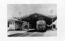 MORCENX: Belle Photo,sur Support Cartonné 13x9cm-en 1910,Locomotive E.4130,entrant En  Gare ,tbetar - Morcenx