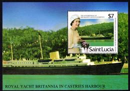 St Lucia 1986 Queens Birthday Souvenir Sheet Unmounted Mint. - St.Lucie (1979-...)