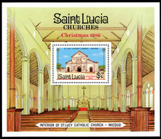 St Lucia 1986 Christmas Souvenir Sheet Unmounted Mint. - St.Lucie (1979-...)