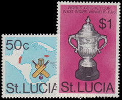 St Lucia 1976 West Indian Victory In World Cricket Cup Unmounted Mint. - Ste Lucie (...-1978)