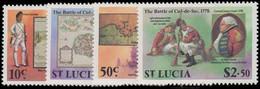 St Lucia 1978 Bicentenary Of Battle Of Cul-de-Sac Unmounted Mint. - Ste Lucie (...-1978)