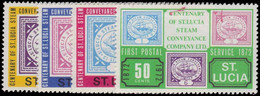 St Lucia 1972 Centenary Of First Postal Service Unmounted Mint. - Ste Lucie (...-1978)
