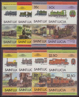 St Lucia 1984 Trains (3rd Series) Unmounted Mint. - St.Lucie (1979-...)