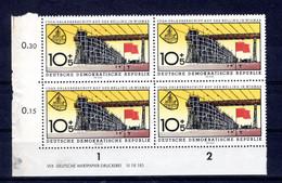 DDR  Michel #  769 ** DZ (Druckerzeichen) 4-er Block - Sin Clasificación