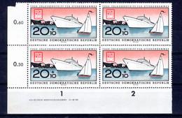 DDR  Michel #  770 ** DZ (Druckerzeichen) 4-er Block - Sin Clasificación