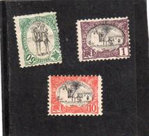 Côte Française Des Somalis: Année 1902 N°53** ,N°57**,N°62** - Ongebruikt