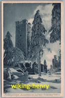 Fichtelgebirge - S/w Aussichtsturm Auf Dem Ochsenkopf 1   Mit Stempel Gruß Vom Ochsenkopf - Sonstige