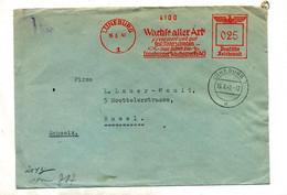 Lettre Flamme Ema Luneburg Confection Cire  Censure Controlé - Covers & Documents