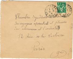 DAGUIN BORGNE DE BOIS COLOMBES SUR LETTRE 1941 - Mechanical Postmarks (Other)