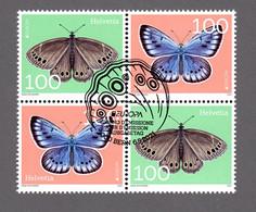 4erBlock 2021: EUROPA Schmetterlinge Aus Spezialbogen ES - Gebraucht