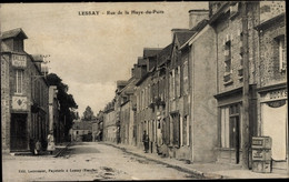 CPA Lessay Manche, Rue De La Haye Du Puits - Sonstige Gemeinden