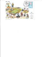 Carte Philatélique 60e Anniv ASPTT Chalons 8-9-1995.vélo, Baskett,foot, Judo, Handball,Dessin R.Irolla - Châlons-sur-Marne