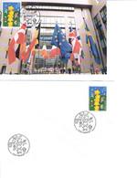 LIEGE - NAMUR : Carte Maximum 9.5.2000 EUROPA 2000 + Enveloppe Souvenir D° - 2001-10