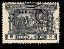! ! Portugal - 1911 Vasco Gama On Postage Due 5 R - Af. 192 - Used - Used Stamps