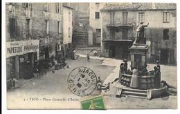 2A-VICO- Place Casanelli D'Istria...1915  Animé - Sonstige Gemeinden