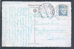 Postcard Valença Obliteration 'Condução Minho-Mixto' 1935 Portuguese Railways. Entrada Em Valença E Baluarte Santa Ana - Covers & Documents