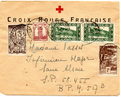 """MAROC.1947.  LETTRE """"CROIX-ROUGE FRANCAISE"""" Pour SP 58.455. - Red Cross"""