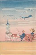 South Manchuria Railway Co., Emperor's Throne, Wharf Scene, Etc. Lot Of 4 C1920s/30s Vintage Postcards - China
