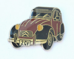 Pin's CITROEN 2 CV CHARLESTON Bordeaux Et Noire - K097E - Citroën