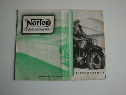 Motocyclette,NORTON,motor Cycles,différent Modèles,sidecars 1939,Birmingham - Reino Unido