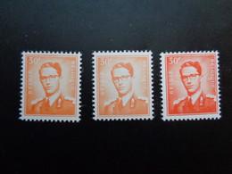 1074 1074a 1074b ** MNH Kleuren - Couleurs Boudewijn Marchand - 1953-1972 Anteojos