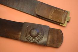 14/18 , CEINTURON CUIR ALLEMAND AVEC BOUCLE, WW1, 1915 - 1914-18