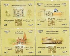 EGYPT 2021 [MNH],World Heritage Day : Museums - Nuovi