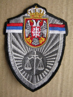 Ministry Of Justice Of The Republic Of Serbia - Patch: Directorate For Execution Of Criminal Sanctions ( 2 ) - Stoffabzeichen