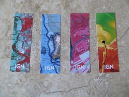 Lot De 4 Marque - Pages Publicitaire I G N Institut National Géographique - Format 14 Cm /4, 5 Cm - Segnalibri