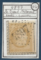 France Fragment Ceres N°59 Obliteration GC 4897 Du Grand Bornand Haute Savoie (indice 18) Belle Frappe - 1871-1875 Ceres