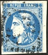 YT 46B A TTB Bleu Foncé LGC (°) 1870-71 Bordeaux 20c Type III R2 (50 Euros) France – Ciel - 1870 Bordeaux Printing
