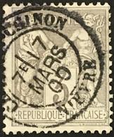YT 87 CaD Château-Chinon Nièvre (56) (°) 1877-80 SAGE (type II) 3c Gris France – Kdomi - 1876-1898 Sage (Type II)
