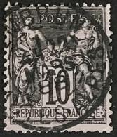YT 89 CaD 22.3.1888 Embrun Hautes-Alpes (4) (°) 1877-80 SAGE (type II) 10c Noir Sur Lilas France – B2otti - 1876-1898 Sage (Type II)