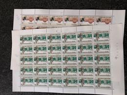 Belgie 1971 1571/72 TURNHOUT BEGIJNHOF MARCHE-LES-DAMES ABBEY Volledig Vel FULL SHEET MNH PLAATNUMMER 43 - Full Sheets