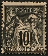 YT 103 Convoyeur De Station Givet à Charleville Ardennes (7) (°) 1898-00 SAGE (type III) 10c Noir Sur Lilas – B2otti - 1898-1900 Sage (Type III)