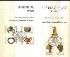 GERMANY - ETB - ARCHEOLOGY -  MASK SHLEM JUMP - 1976/77 - Archéologie
