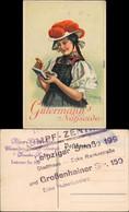 Werbekarte - Gütermanns Nähseide C. Liebich Chemnitzer StrumpfZ Dresden 1922 - Pubblicitari