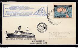 Brief Van Commemorating The Visit Of The Lindblad Travel Tourist Expedition 1970 - Briefe U. Dokumente
