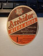 Bieretiketten Biere Etiquette Brouwerij Archiduc Duvieusart Belgien #9.01 - Bière