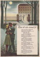 AK Das Ist Nun Einmal So - Deutscher Soldat Und Frau - Patriotika Romantik - Liedtext - Ca. 1940 (56653) - Guerra 1939-45