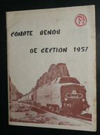 Rare Compte-Rendu De Gestion 1957 CFA Chemins De Fer Algériens Algérie, Carte De Visite - Altri