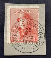 OBP 173 - 40c Met EC ADINKERKE GENT (GAND) - 1919-1920 Behelmter König