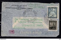 Brief Van Republica De Chile Ministerio De Relaciones Exteriores Y Comercio Naar Bruxelles (Belgie) - Chili